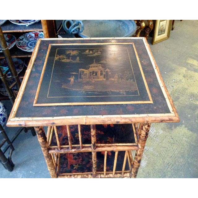 Late 19th Century Chinoiserie Bamboo Revolving Bookcase For Sale - Image 5 of 13