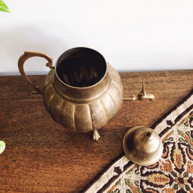 1950s Vintage Brass Indian Samovar Tea Dispenser For Sale - Image 5 of 6
