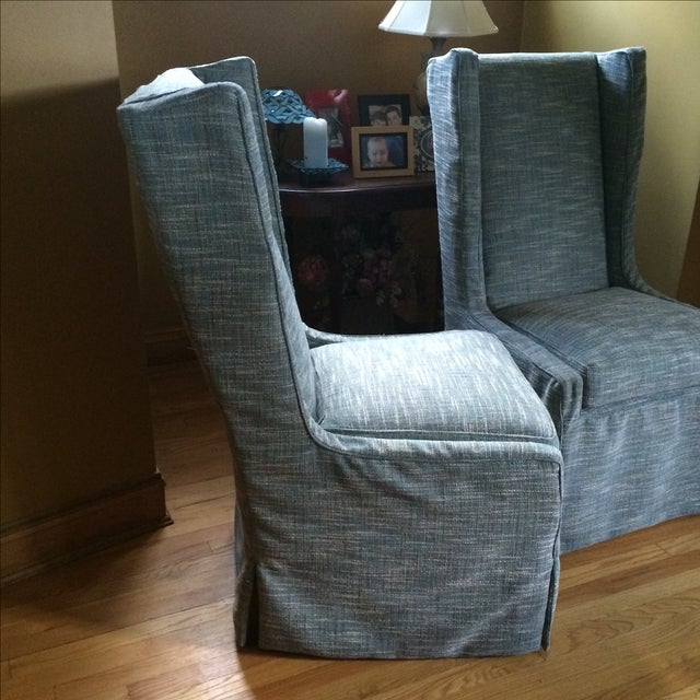 Custom Upholstered Chairs - A Pair - Image 3 of 5