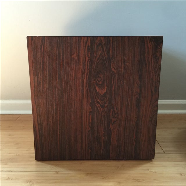 Wood Laminate Cube Side Table - Image 4 of 7