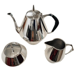 Gio Ponti Diamond Tea Set by Reed & Barton - 3 Pc. Set For Sale