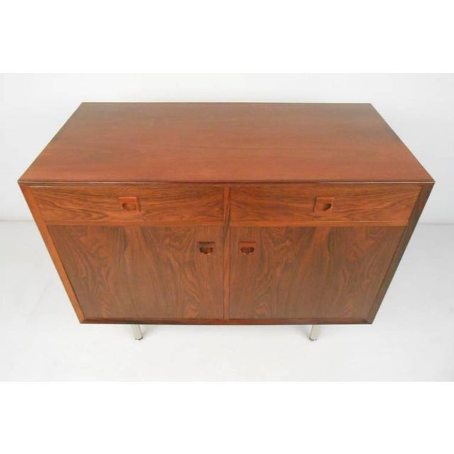 Danish Modern Rosewood Cabinets - a Pair For Sale - Image 9 of 10