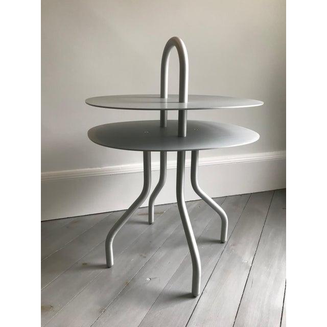 "Aluminum ""Taco"" Aluminum Side Table by Francesca Lanzavecchia For Sale - Image 7 of 7"