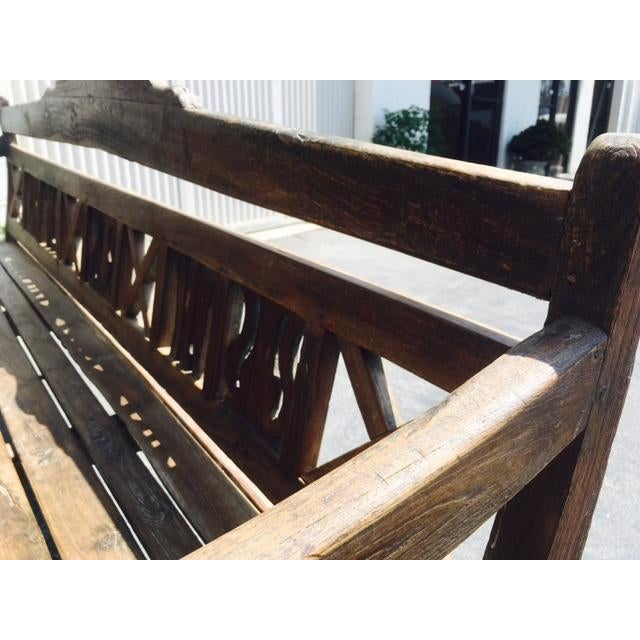 Early 20th-C. Colonial Bench - Image 6 of 9