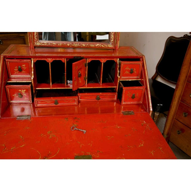 Late 19th Century Antique 19th Century Painted Chinoiserie Vanity For Sale - Image 5 of 10