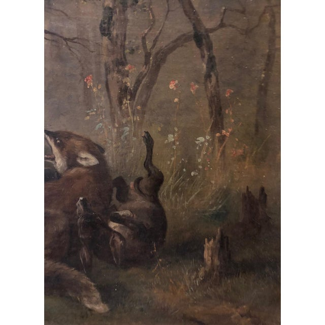 English Traditional Late 19th Century Antique Karl (Carl) Reichert Victorian Oil Painting For Sale - Image 3 of 13