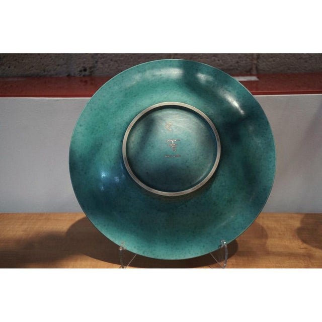 Ceramic Wilhelm Kage Argenta Series Charger for Gustavsberg For Sale - Image 7 of 8