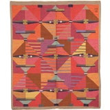 Image of 1960s Swedish Flat Weave Rug by Agda Osterberg- 7′1″ × 8′6″ For Sale