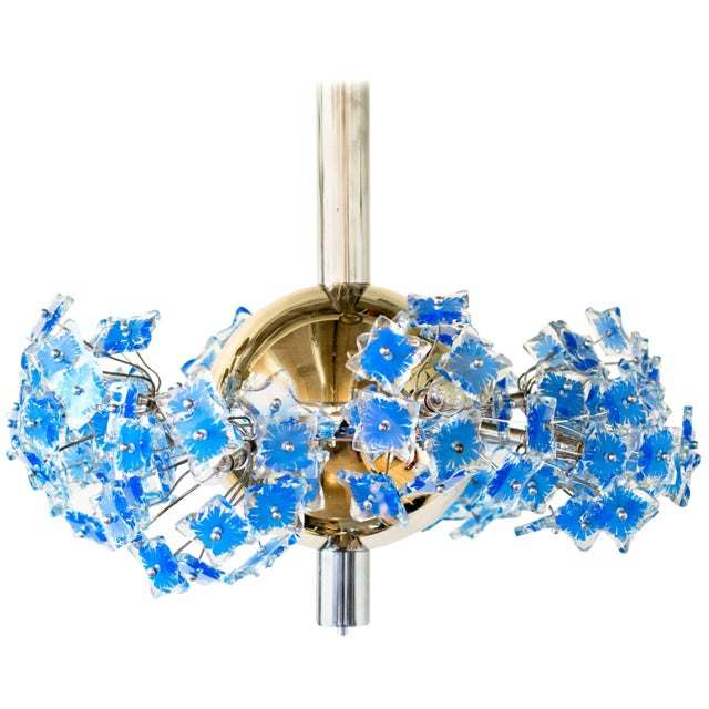 Italian Chandelier Attributed to Fontana Arte, 1950s For Sale - Image 9 of 9