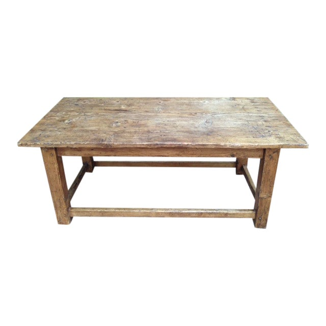 French Antique Pine Coffee Table - Image 1 of 5