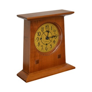 Stickley Mission Collection Cherry Bracket Clock For Sale