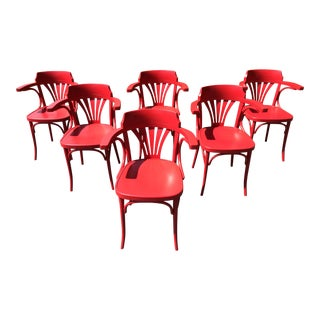 Ton Michael Thonet Bentwood Arm Chair - Set of 6 - New For Sale