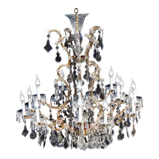 1920's French Mary Therese 16-Light Crystal Chandelier