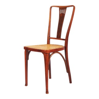 Antique Art Nouveau Thonet chairs made of beech & cane by Thonet For Sale