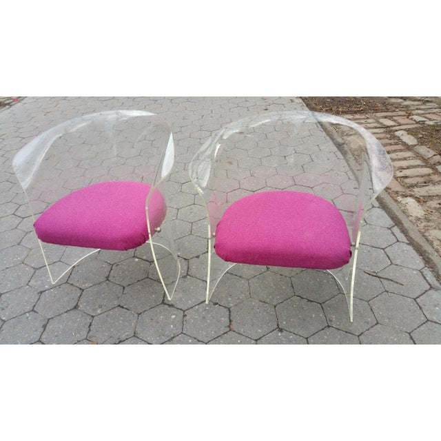 1970's Mid-Century Flexuous Lucite Chairs - A Pair - Image 9 of 9