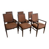 Image of Tommi Parzinger Style Dining Chairs For Sale