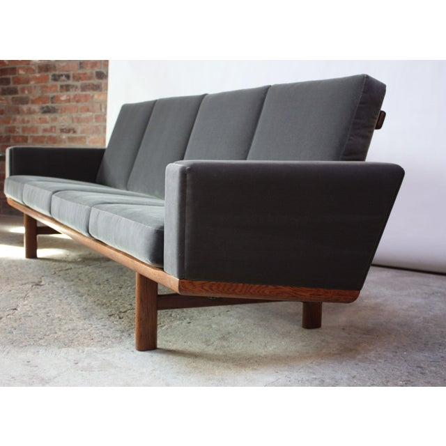 Hans Wegner for GETAMA Sofa in Oak and Velvet - Image 12 of 12