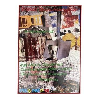 Robert Rauschenberg Poster for the Menil Collection Contemporary Arts Museum the Museum of Fine Arts Houston For Sale