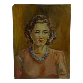 """Original 1949 """"Necklace & Earrings"""" Painting on Paper by Tom Sturges Jr."""