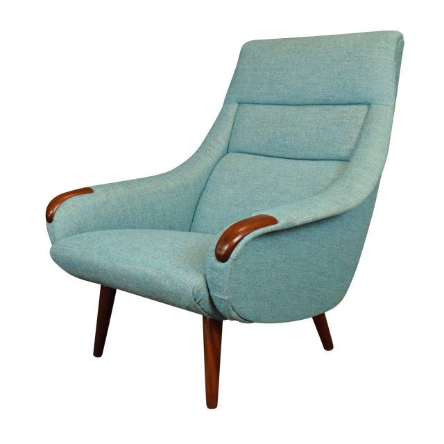 1960s Vintage Danish Modern Lounge Chair For Sale