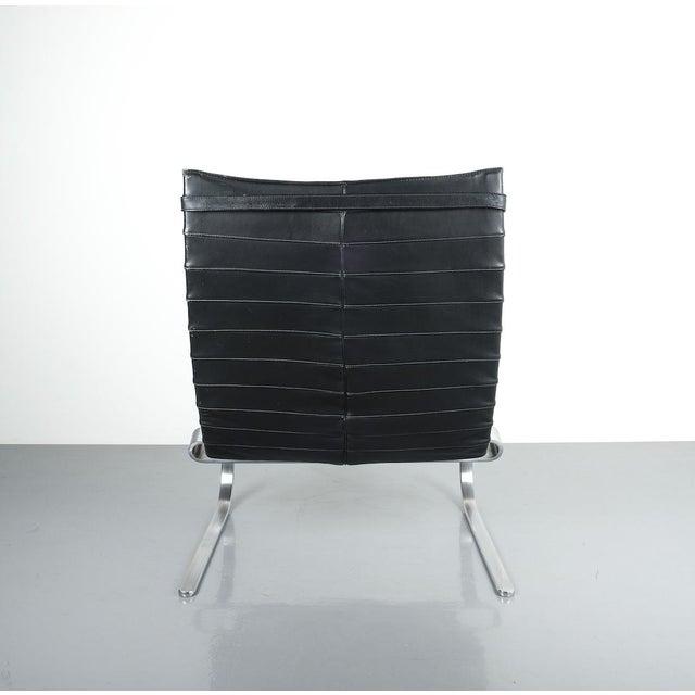 Poul Kjaerholm Poul Kjærholm Early Fritz Hansen Pk20 Lounge Chair in Black Leather, 1987 For Sale - Image 4 of 12