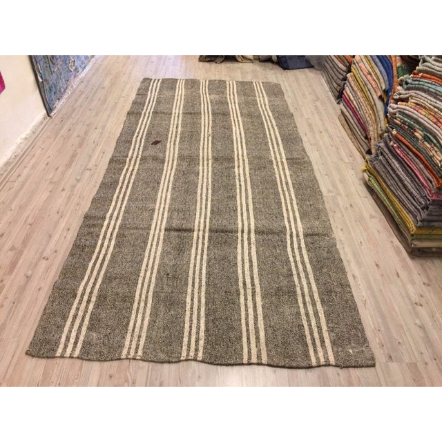 Turkish handmade handwoven vintage anatolian Goat Wool rug. We collected old vintage antique rugs from Anatolia, which is...