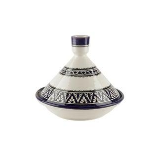 Berber Design Blue & White Serving Tagine For Sale