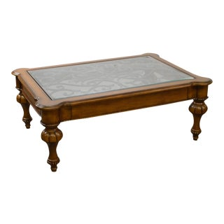 Ethan Allen Devereaux Tuscan Style Coffee Table (B) For Sale