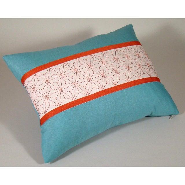 Asian Japanese Sashiko Obi Pillow Cover For Sale - Image 3 of 9