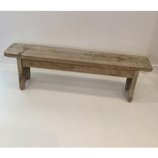 Late 18th Century Primitive Rustic Weathered Wood Bench Preview