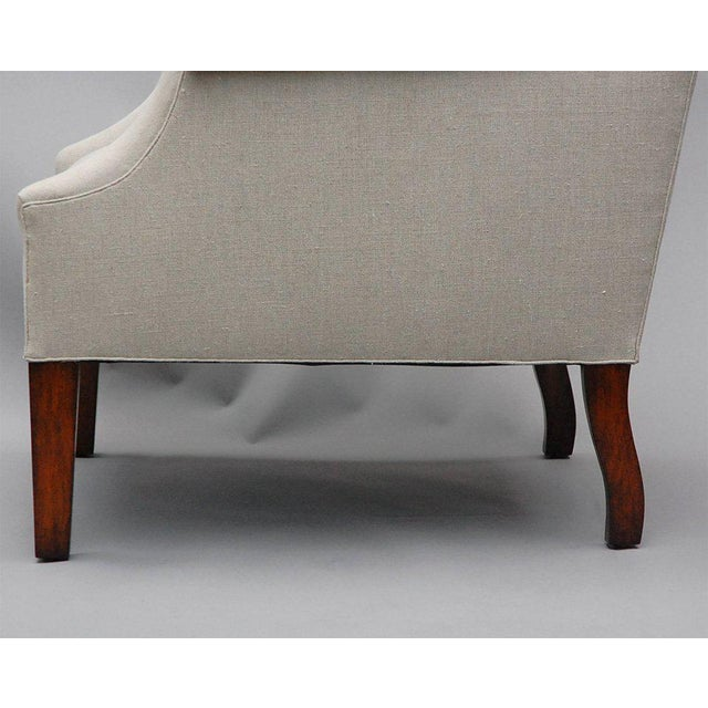 """""""Somerton"""" by Lee Stanton Armchair Upholstered in Belgian Linen or Custom Fabric For Sale In Los Angeles - Image 6 of 9"""