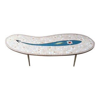 1960s Italian Biomorphic Tile Top Coffee Table For Sale