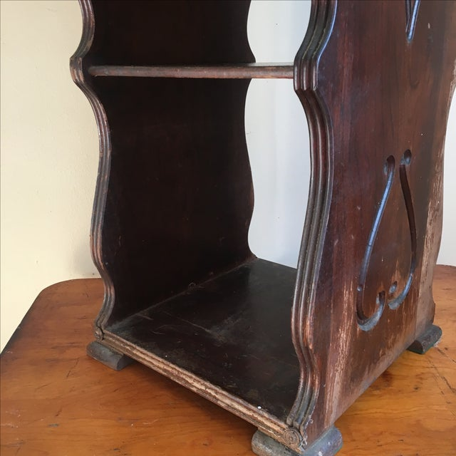 Antique Wooden Telephone Stand For Sale - Image 7 of 10