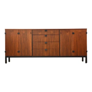 1960s Milo Baughman Directional Walnut Credenza For Sale