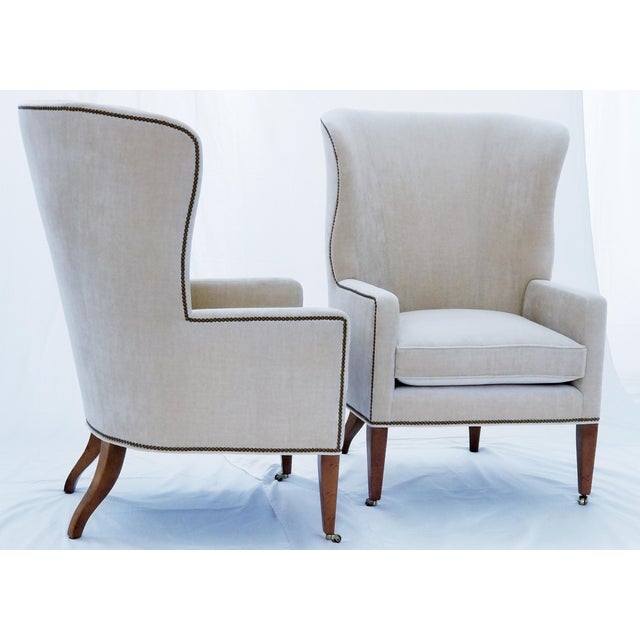 Baker Furniture Modern Wingback Accent Chairs - A Pair For Sale In Chicago - Image 6 of 12
