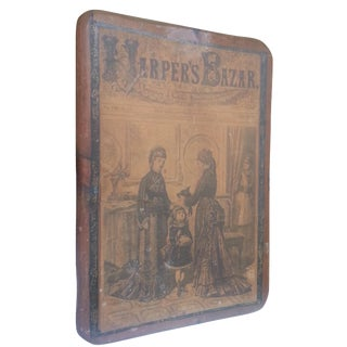1876 Harper's Bazar Cover Mounted on Wood