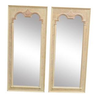 Thomasville Italian Style Burlwood Mirrors - a Pair