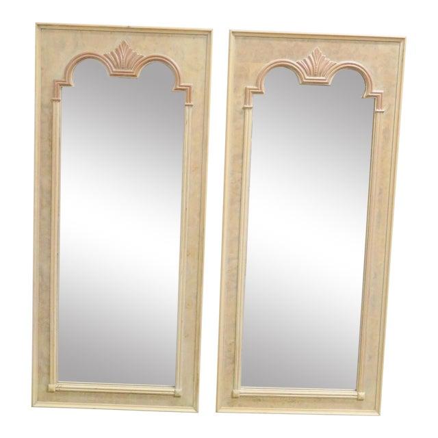 Thomasville Italian Style Burlwood Mirrors - a Pair For Sale
