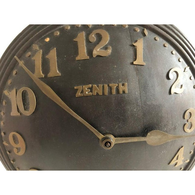 1930s 1930s Art Deco Zenith Wall Clock Decor For Sale - Image 5 of 12