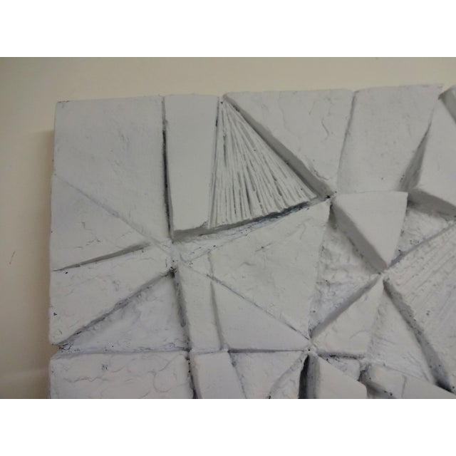 Mid-Century 3D Geometric Wall Hanging Sculpture For Sale - Image 5 of 10