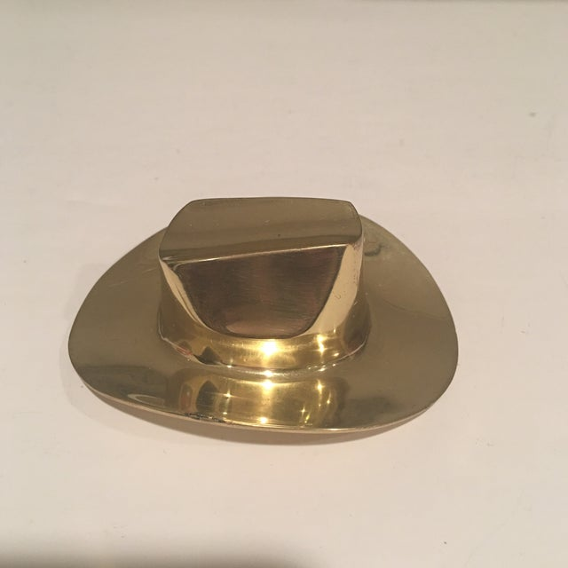 Gold Brass Hat Paper Weight For Sale - Image 8 of 8