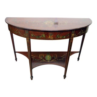 19th Century Adams Style Demilune Console Table For Sale