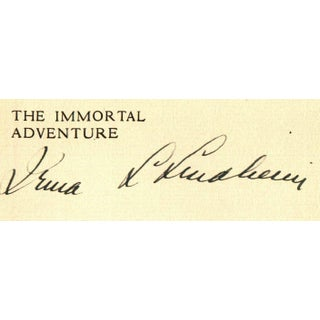 """The Immortal Adventure"" Signed Book Circa 1928 Preview"