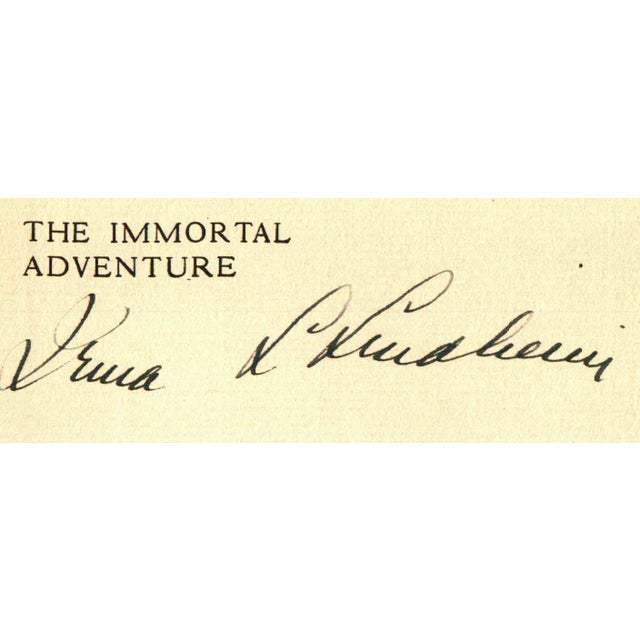 The Immortal Adventure by Irma L. Lindheim. Illustrated by J. Benor-Kalter. New York: The Macaulay Company, 1928. Signed...