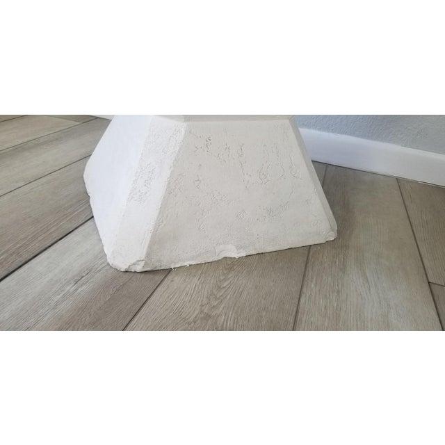 Vintage Postmodern Geometric Plaster Side Table For Sale - Image 9 of 13