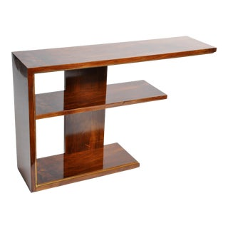 Hungarian Art Deco Console With Shelves For Sale