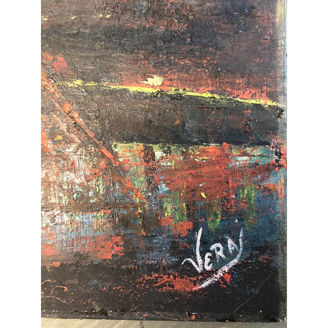 Original painting on stretched canvas 24 x 48 Signed lower right Unframed