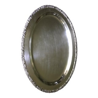 Vintage Oval Serving Tray For Sale