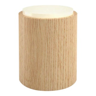 Contemporary 104 Side Table in Oak and White by Orphan Work, 2020 For Sale