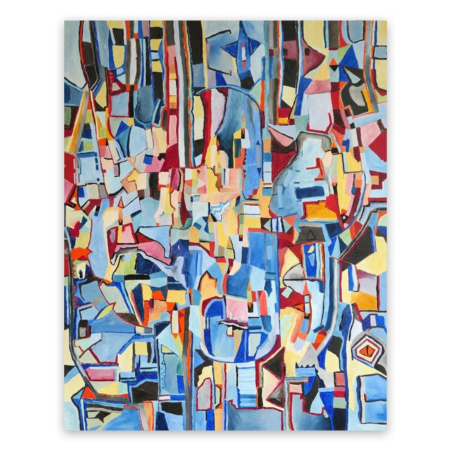 "Canvas Jeremie Iordanoff ""Untitled 248"", Painting For Sale - Image 7 of 7"